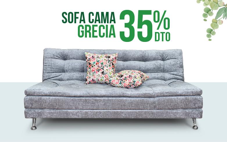 Sofá Cama en Promoción, Disfruta descuentos de hasta el 35% en nuestro Sofá Cama Grecia Gris