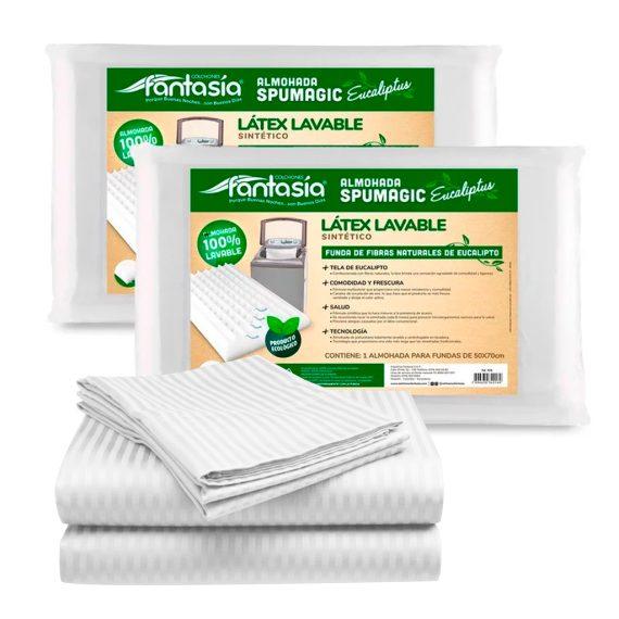 Combo eucaliptusSabana Happy blanco